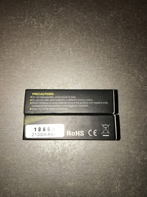 Xtar Li-Mn 18650 2100mAh 30A High Drain battery with Nipple 2
